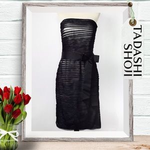 Tadashi Shoji Strapless Layered Tulle Dress Size 8